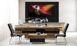 Atatürk Resimli Makam Panosu 250x150x4 cm A-100