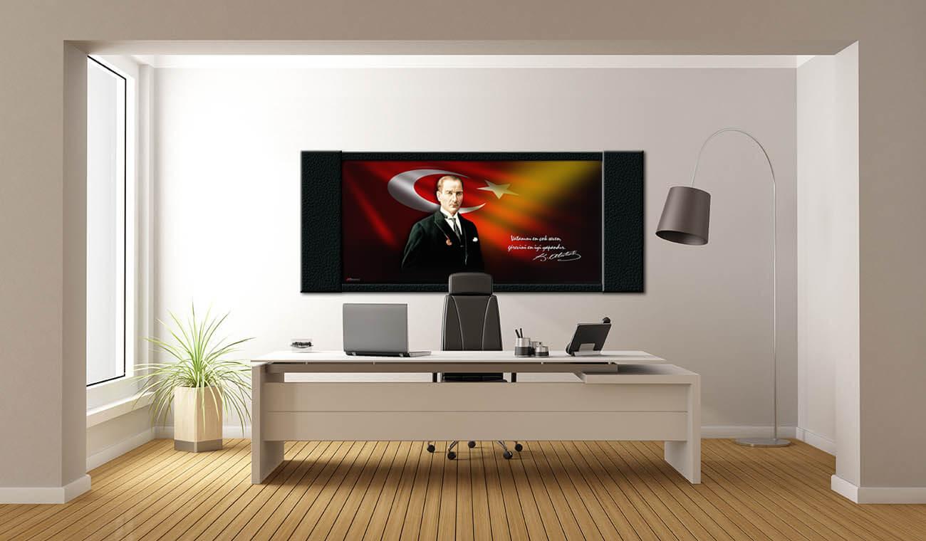 Atatürk Makam Panosu Y-201-240x100x4 cm
