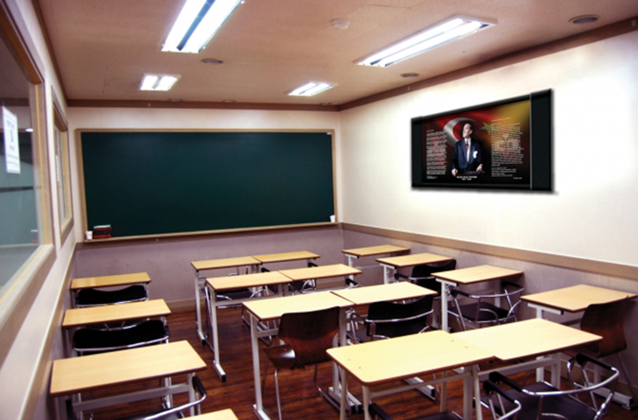 Milli Atatürk Ofis-Okul Makam Tablosu  105x50x4 S-102 | Milli Tablolar
